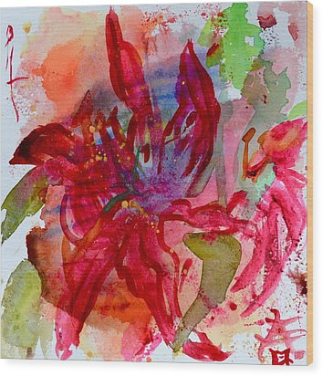 Spring Is A Messy Business Wood Print by Beverley Harper Tinsley