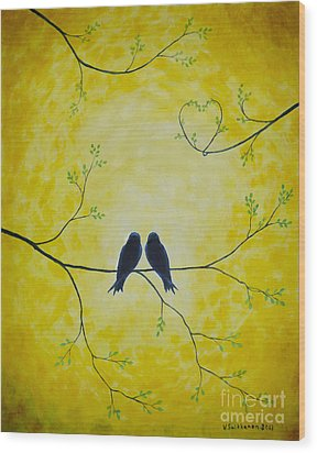 Spring Is A Time Of Love Wood Print by Veikko Suikkanen