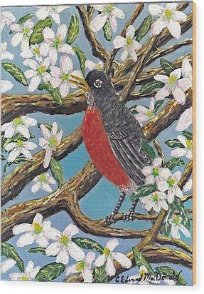 Spring Is Coming  Wood Print
