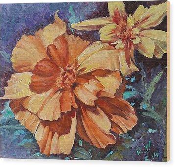 Spring Is Here Wood Print by Rose Wang