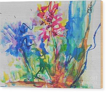 Spring Is In The Air Wood Print by Chrisann Ellis