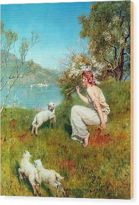 Spring Wood Print by John Collier