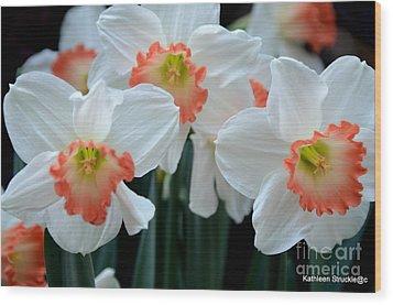 Spring Jonquils Wood Print by Kathleen Struckle