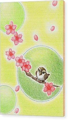 Spring Wood Print by Keiko Katsuta
