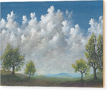 Spring Wood Print by Kenneth Stockton