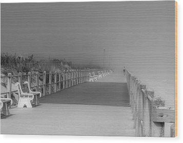 Spring Lake Boardwalk - Jersey Shore Wood Print