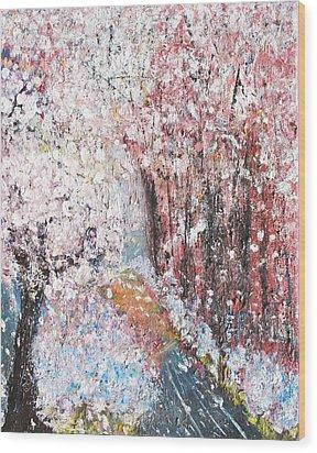 Spring Landscape Wood Print by Evelina Popilian