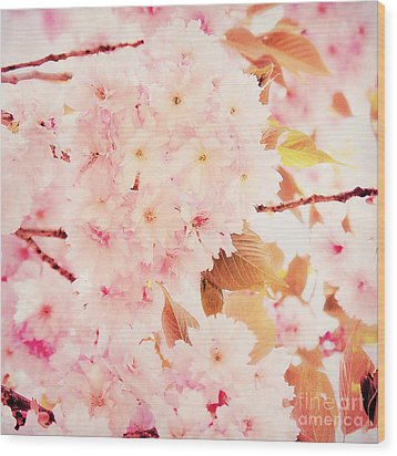 Spring Love Wood Print by Angela Doelling AD DESIGN Photo and PhotoArt