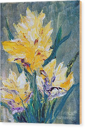 Spring Love Wood Print by Teresa Wegrzyn