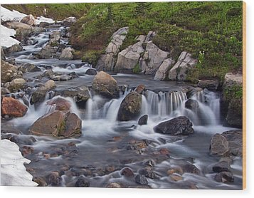 Wood Print featuring the photograph Spring Melt by Bob Noble Photography