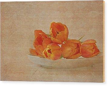 Spring Menu Wood Print by Claudia Moeckel