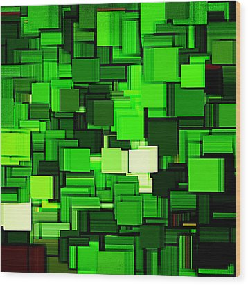 Spring Modern Abstract Xiv Wood Print by Lourry Legarde