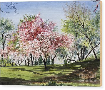 Spring Morning Wood Print by Barbara Jewell