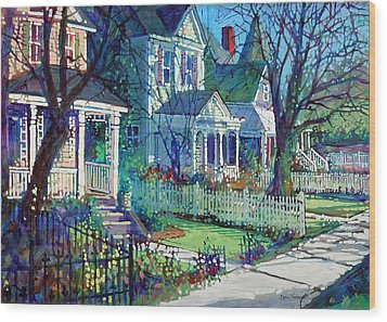 Spring Morning On East Street Wood Print