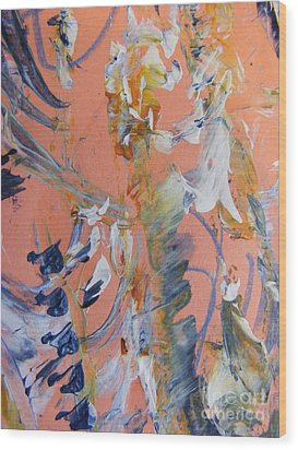 Wood Print featuring the painting Spring by Nancy Kane Chapman