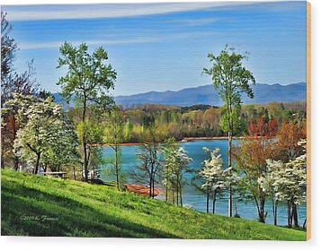 Spring On The Lake Wood Print by Kenny Francis