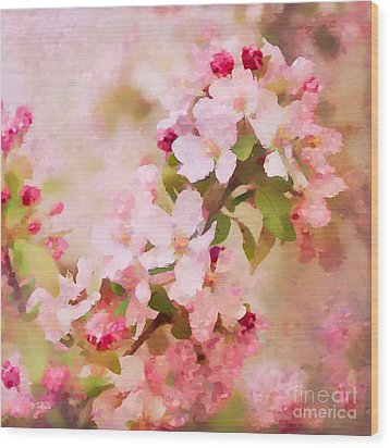 Spring Pink Wood Print by Betty LaRue