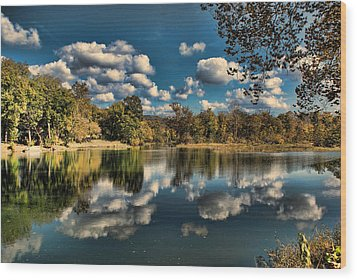 Spring River Autumn Wood Print