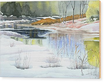 Spring Run-off At Willow Creek Wood Print
