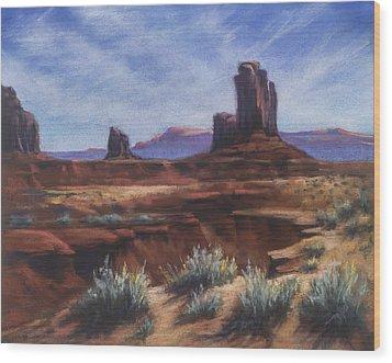 Spring Sage Monument Valley Az Wood Print