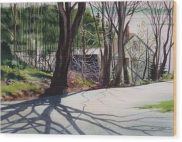 Spring Shadows Wood Print by Karol Wyckoff
