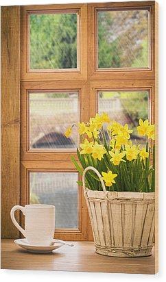Spring Showers Wood Print by Amanda Elwell
