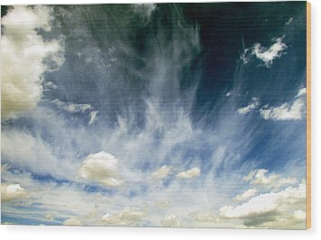 Spring Sky Wood Print by Andrea Dale