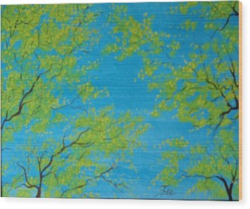 Spring Sky Wood Print