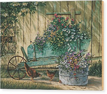 Spring Social Wood Print by Michael Humphries