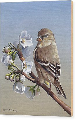 Wood Print featuring the painting Spring Splendor by Mike Brown