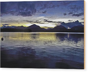 Wood Print featuring the photograph Spring Sunset by Timothy Latta