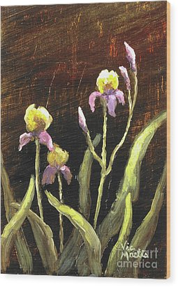 Wood Print featuring the painting Spring Surprise II by Vic  Mastis