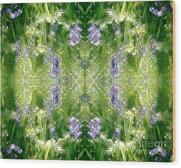 Spring Symmetry Wood Print