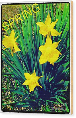 Spring Wood Print by Thommy McCorkle
