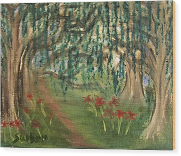Spring Trail Wood Print