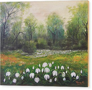 Spring Wood Print by Vesna Martinjak