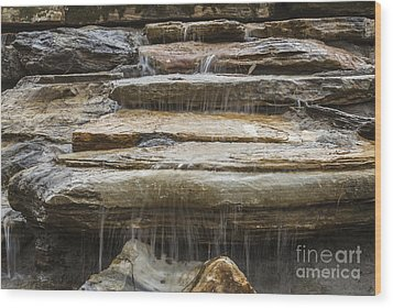 Spring Waterfall 2 Wood Print