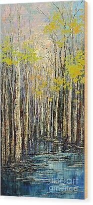 Spring Wind Wood Print by Tatiana Iliina