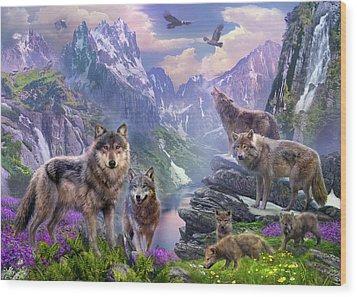 Spring Wolves Wood Print by Jan Patrik Krasny