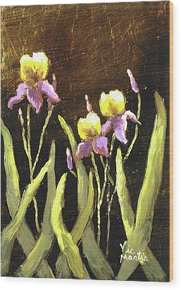 Wood Print featuring the painting Spring Wonder by Vic  Mastis