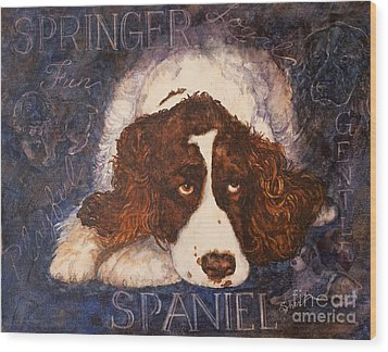 Springer Spaniel - Best Friend Wood Print