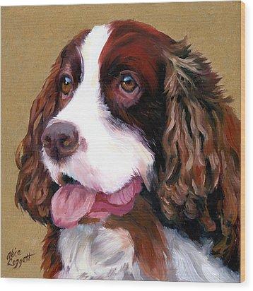 Springer Spaniel Dog Wood Print