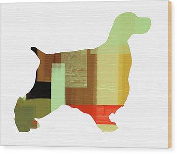 Springer Spaniel  Wood Print by Naxart Studio