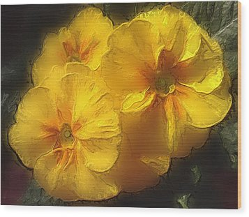 Wood Print featuring the photograph Springflower 5 by Gabriella Weninger - David