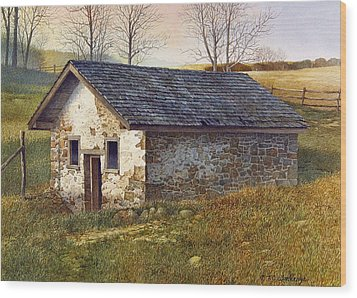 Springhouse Wood Print