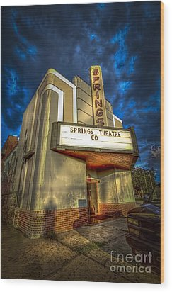 Springs Theater Co Wood Print by Marvin Spates