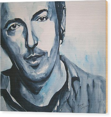 Springsteen Wood Print by Brian Degnon