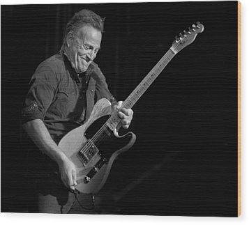 Springsteen Shreds Bw Wood Print