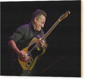 Springsteen Shreds Wood Print