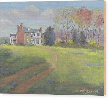Springtime At Carnton Wood Print by Tommy Thompson
